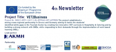 Launch of VET2Business 4th Newsletter